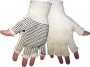 Two Sides Dotted Knit Gloves (24 pair)