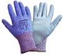 Gray PU Flat Dipped Gloves (6 pair)