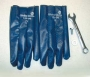 Light Blue Nitrile Perforated Back Gloves (12 pair)