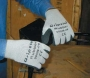 Flat Dipped Black Rubber Gloves (6 pair)