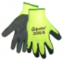 Black Rubber,Safety Neon Yellow Gloves (6 pair)