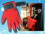 Black Rubber, Red Poly/cotton Gloves (6 pair)