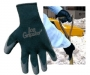 Black Rubber Safety Lined Gloves ( 6 pair)