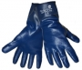 """Light Blue Full Dipped 4"""" Cuff Nitrile Gloves (6 pair)"""
