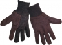 8 oz. Brown Jersey Dotted Palm Gloves (24 pair)