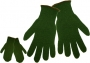 Army Green Rag Wool Mittens (24 pair)