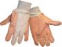 Cotton Canvas 12 oz. High-Vis Orange Dot Gloves (24 pair)