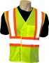 High Visiblity Fluorescent Lime Vest (case of 50)