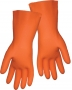 Orange Diamond Pattern Gloves (12 pair)