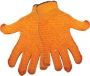Orange Honeycomb Patterned Gloves (12 pair)