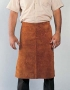 Split-leg bib apron w/ metal D-rings on front