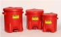 Red Poly Waste Cans