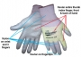 Gray Polyurethane Gloves (12 pair)